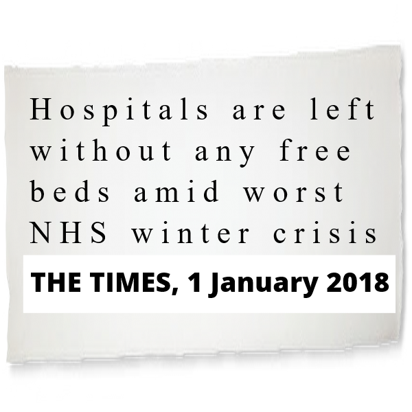 NHS Crisis - from The Times, 1 Jan 2018